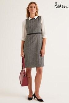 فستان تويد Carrie رمادي من Boden