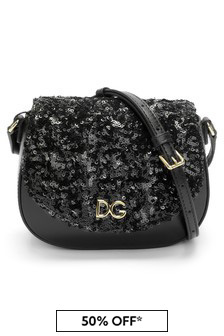 Dolce & Gabbana Kids Girls Black Leather Bag