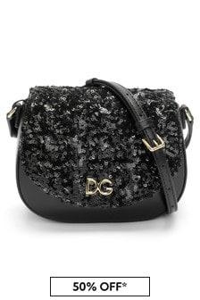 Dolce & Gabbana Kids Girls Black Leather Bag