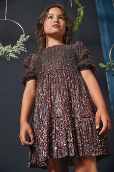 Sparkle Tiered Dress (3-16yrs)