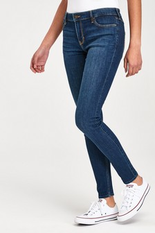 Hollister Dark Wash Blue Super Skinny Jeans