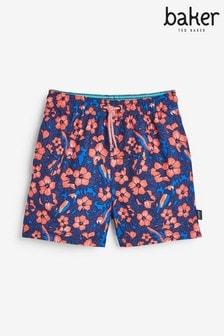 Baker by Ted Baker Boys Rose Print Swim Shorts