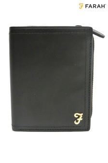 Farah Leather Trifold Wallet