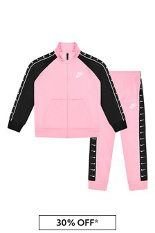 Girls Pink Tracksuit