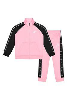 Nike Girls Pink Tracksuit