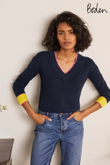 Boden Blue Bamburgh Relaxed Jumper
