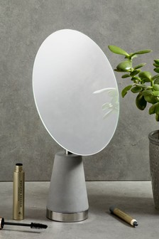 Concrete Effect Vanity Mirror