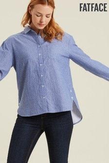 FatFace Blue Everly Spot Shirt