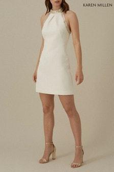Karen Millen Ivory Chain Detail Dress