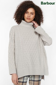 Barbour® Womens Grey Modern Heritage Maybury Knitted Cape