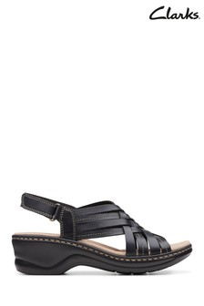 Clarks Black Leather Lexi Carmen Sandals