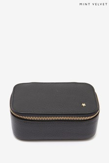 Mint Velvet Black Leather Jewellery Box