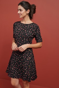 Button Tea Dress