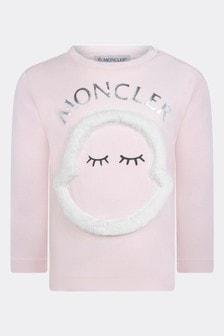 Baby Girls Light Pink Cotton Long Sleeve T-Shirt