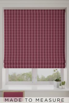 Malvern Vintage Red Made To Measure Roman Blind