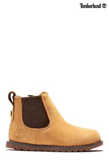 Timberland Younger Boys Tan Pokey Pine Warm Lined Chelsea Boots