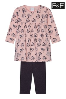 F&F Pink Minnie Mouse™ Top And Leggings