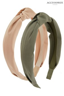 Accessorize Natural Wide Knot Alicebands Two Pack