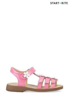Start-Rite Picnic Bright Pink Glitter Patent Sandals