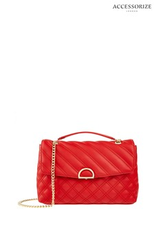 Accessorize Red Ayda Quilted Shoulder Bag