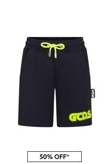 GCDS Mini Kids Navy Cotton Shorts