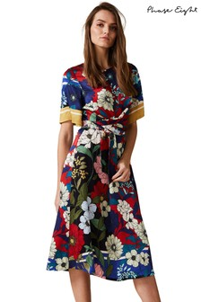 Phase Eight Blue Margot Floral Dress
