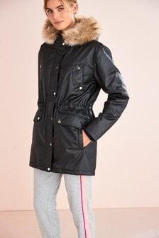 Waxy Parka Coat