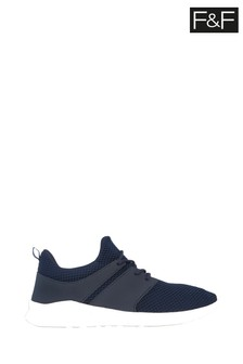F&F Navy Knit Fashion Trainers