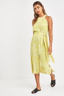 Платье с халтером