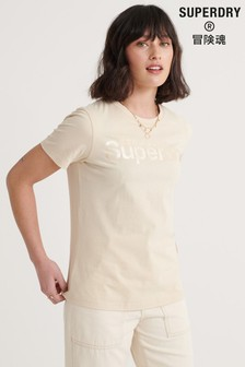 Superdry Swiss Logo Bonded Satin T-Shirt