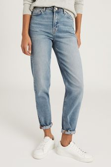 Reiss Blue Bay Relaxed Straight Fit Jeans