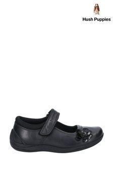 Hush Puppies Black Jessica Senior School Shoes