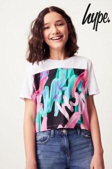 Hype. ストロボ グラフィティ フォイル クロップドTシャツ