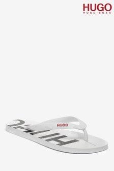 HUGO White Onfire Sandals