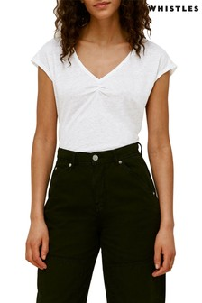 Whistles Ruched T-Shirt