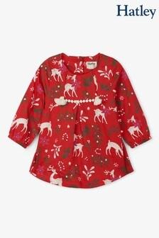 Hatley Red Mistletoe Deer Baby Party Dress