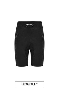 Molo Boys Black Cotton Shorts