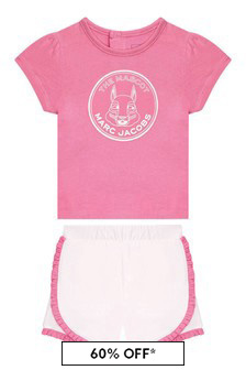 Marc Jacobs Baby Girls Pink Cotton Outfit