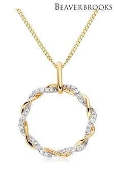 Beaverbrooks 9ct Diamond Circle Pendant