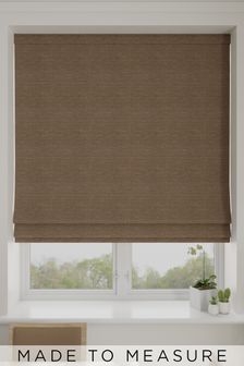 Jasper Bronze Brown Made To Measure Roman Blind