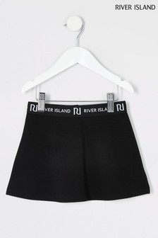 River Island Black Waistband Skirt