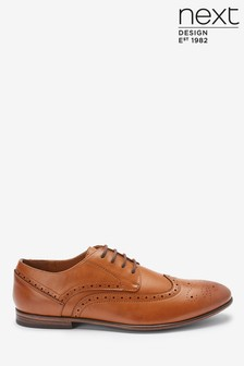 Derby Leather Brogue Shoes