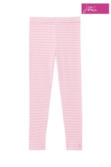Joules Pink Annie Ribbed Leggings