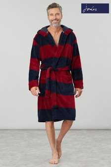 Joules Red Cosy Time Fluffy Dressing Gown