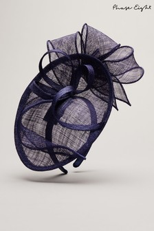 Phase Eight Blue Ambrose Mini Disc Fascinator