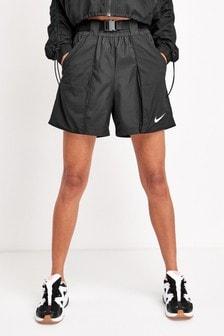 Nike Black Swoosh Woven Shorts