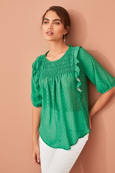 Smock Frill Blouse