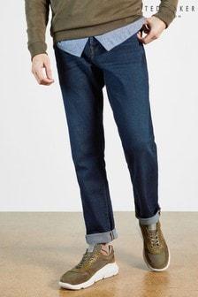 Ted Baker Simay Straight Leg Mid Wash Denim Jeans