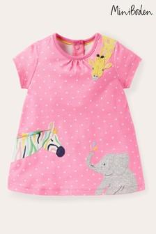 Boden Pink Jungle Animals Jersey Dress