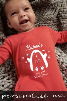 Personalised My 1st Christmas Sleepsuit